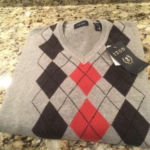 Izod Gray Argyle Sweater